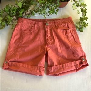 DKNY Jeans Shorts Coral Color 6